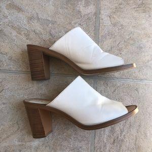 Nine West white mules